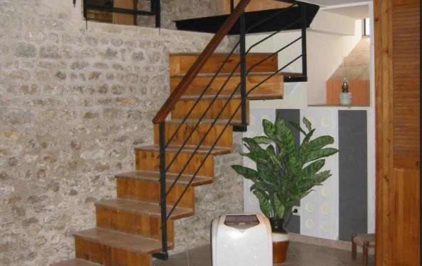 Location de vacances - Gîte à Engenville - L'Escalier menant au Salon