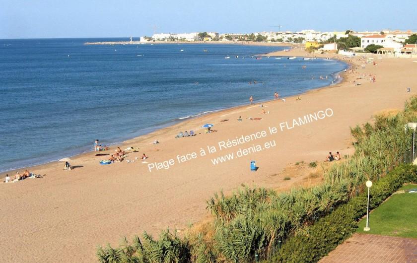Location de vacances - Appartement à Dénia - Plage face à la Résidence