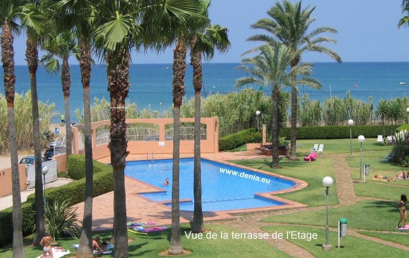 Location de vacances - Appartement à Dénia - Vue de la terrasse de l'étage