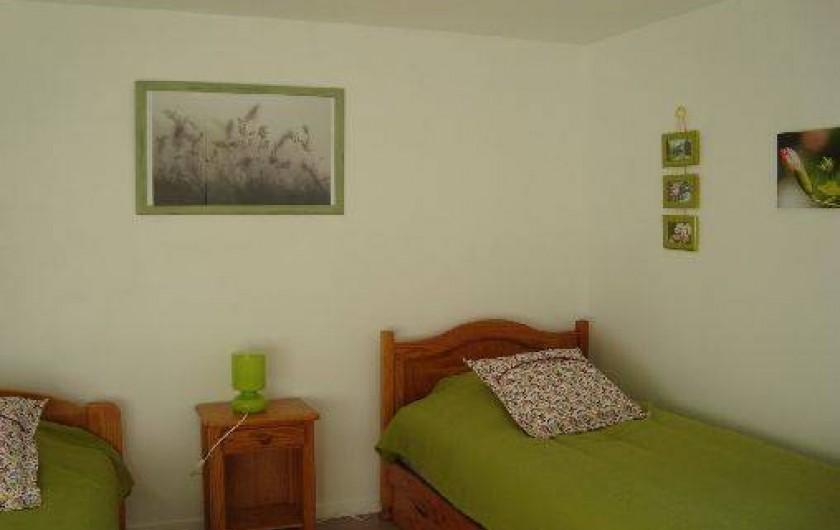 Location de vacances - Gîte à Brélès - La chambre verte.