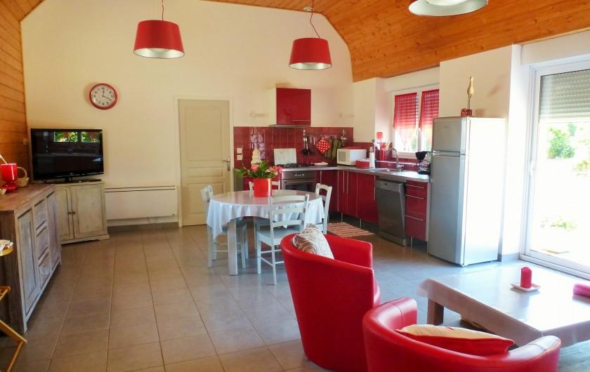 Location de vacances - Gîte à Brélès - Aperçu de la pièce de vie.