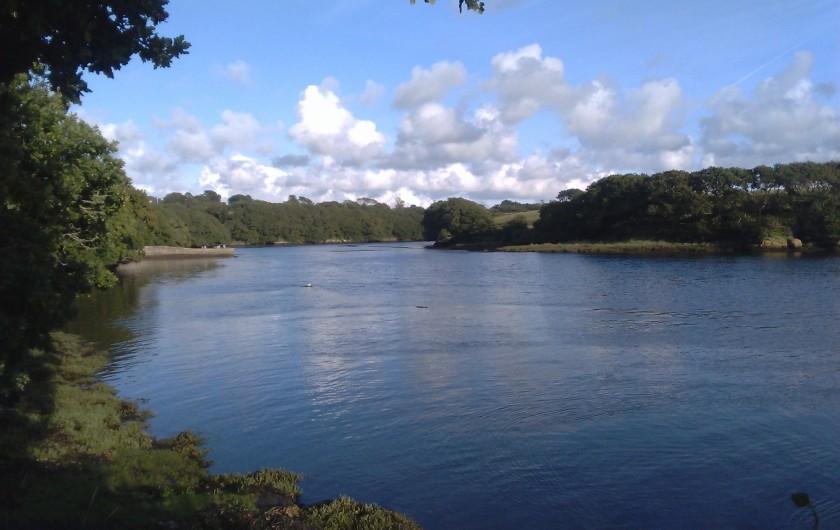 Location de vacances - Gîte à Brélès - Sur le sentier côtier vue sur l'Aber Ildut à marée haute.