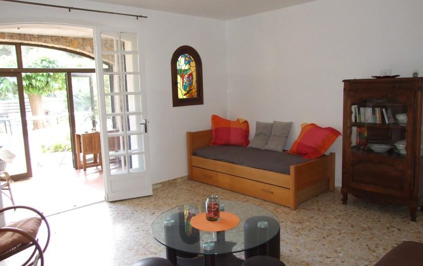 Location de vacances - Appartement à Carry-le-Rouet - Jardin partagé avec les propriétaires