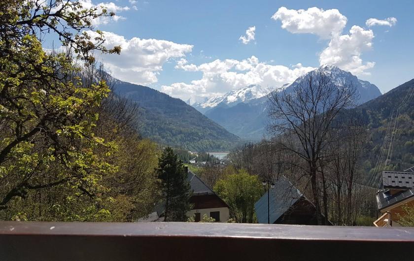 Location de vacances - Chalet à Vaujany - Vue du balcon appartement