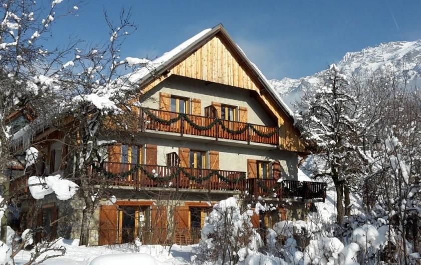Location de vacances - Chalet à Vaujany - Chalet Solneige in winter