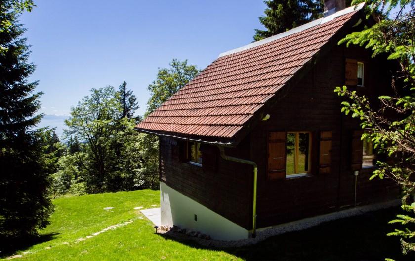 Location de vacances - Chalet à Fontaines - Vue dégagée sur les Alpes