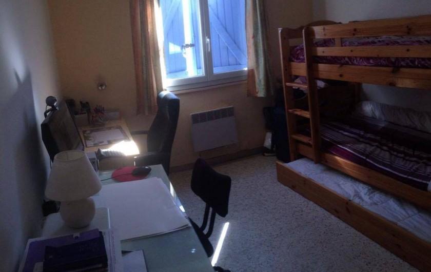 Location de vacances - Villa à Bernis - Lit super-posé + lit tiroir