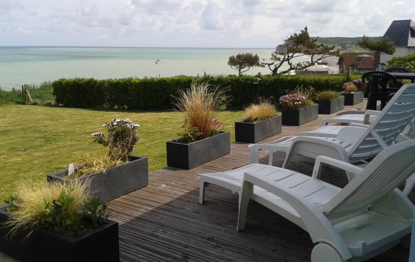 Location de vacances - Maison - Villa à Quiberville - Vue depuis la terrasse