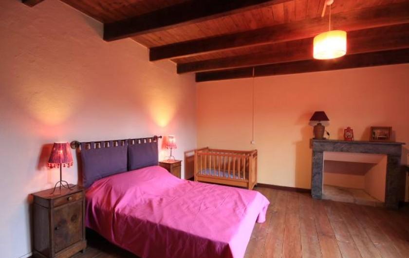 Location de vacances - Maison - Villa à Clohars-Carnoët - chambre rouge