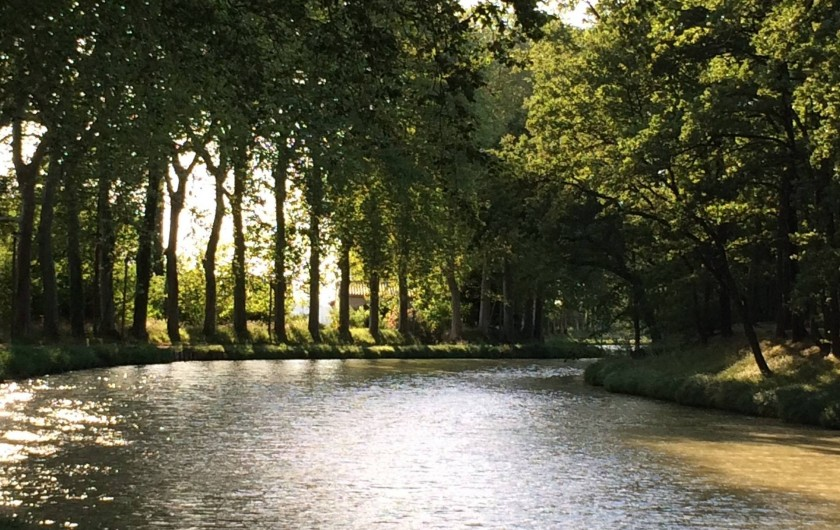 Location de vacances - Appartement à Lagrasse - Canal du Midi