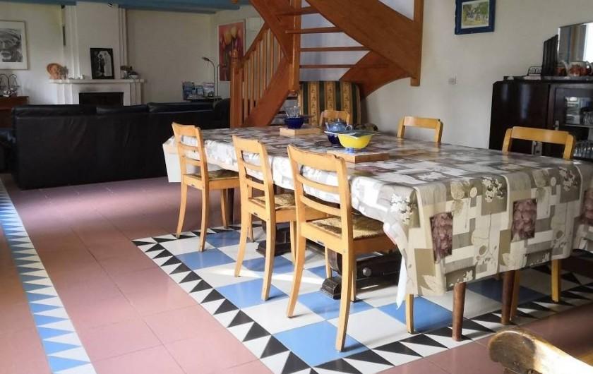 Location de vacances - Maison - Villa à Saint-Jean-Trolimon - Salon-Salle à manger