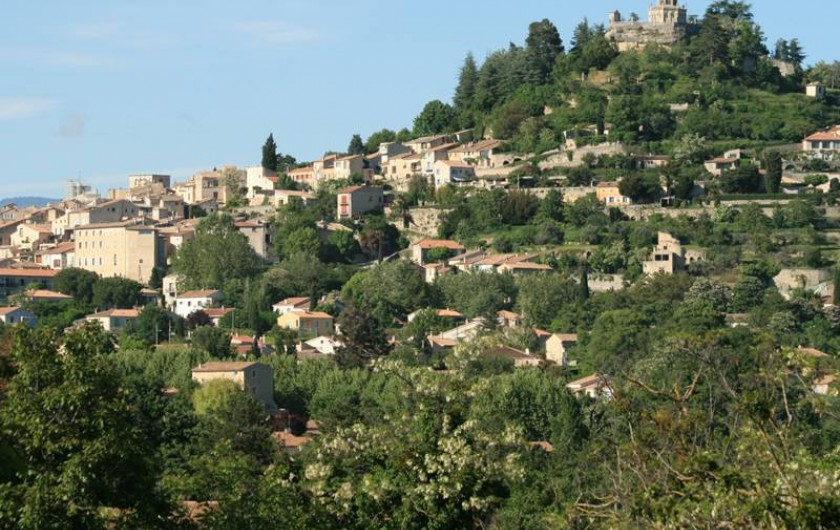 Location de vacances - Villa à Forcalquier - Le centre de Forcalquier vu depuis la maison