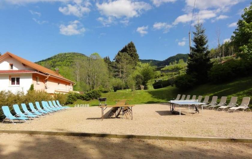 Location de vacances - Gîte à Bussang - terrasse d été