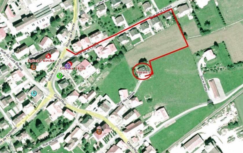 Location de vacances - Appartement à Les Breuleux - itinéraire d'accès routier