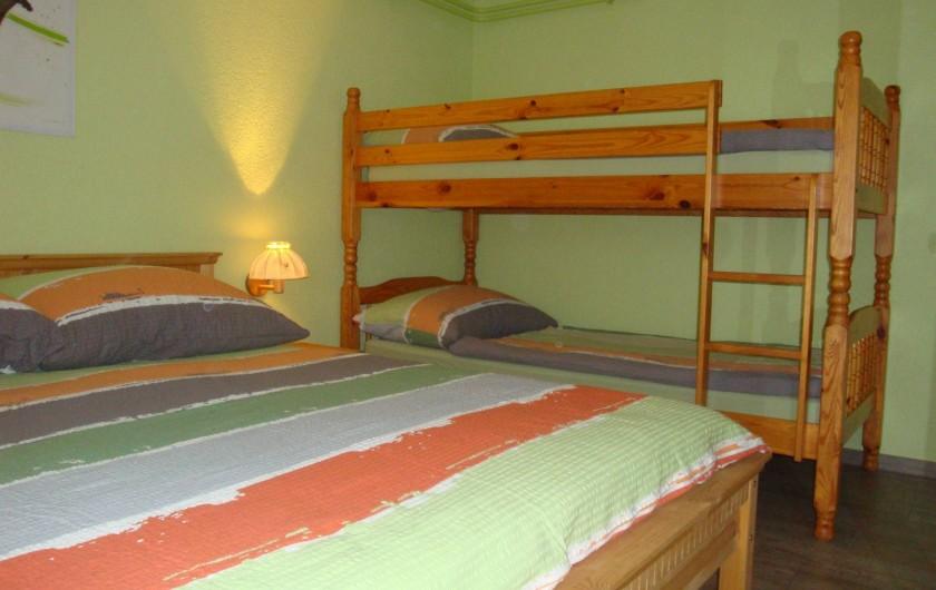 Location de vacances - Appartement à Les Breuleux - 1 lit double 160x200 et lits superposés 90x200
