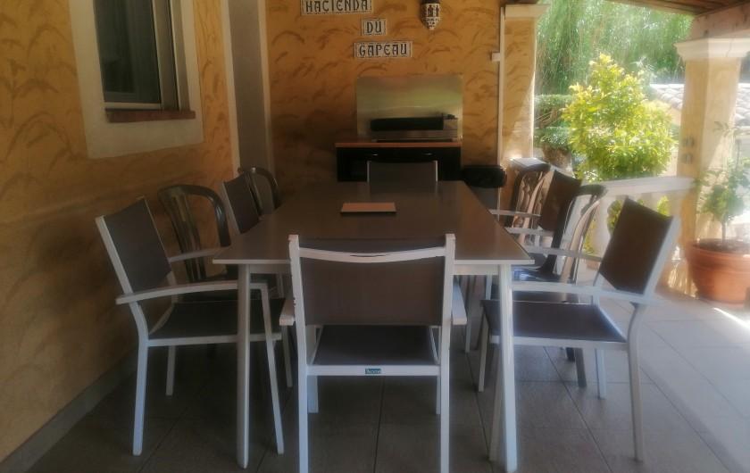 Location de vacances - Villa à Solliès-Toucas - LA CHAMBRE PARENTALE DE 18 M² 1 LIT DE 160 1 LIT BB et 1 CHAISE HAUTE POUR BB.