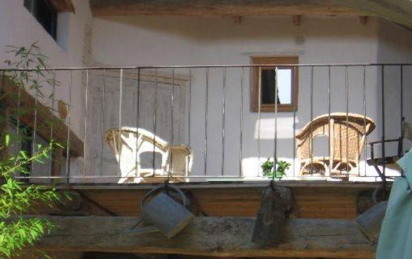 Location de vacances - Gîte à Portes-en-Valdaine - Une terrasse