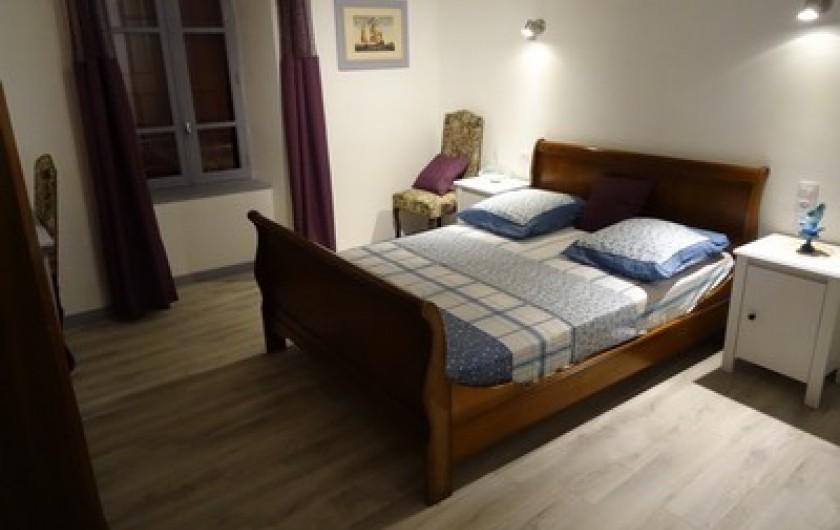 Location de vacances - Gîte à Fontaneilles - Chambre 3 à l'étage lit en 140