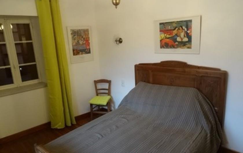Location de vacances - Gîte à Fontaneilles - Chambre 2 de plain pied lit en 140