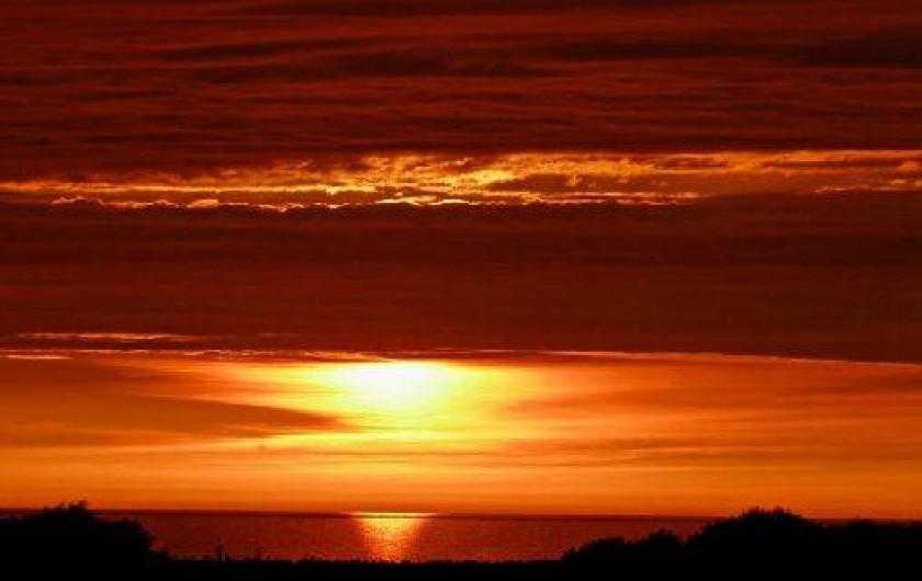 Location de vacances - Gîte à Saint-Martin-aux-Buneaux - Vue Soleil couchant