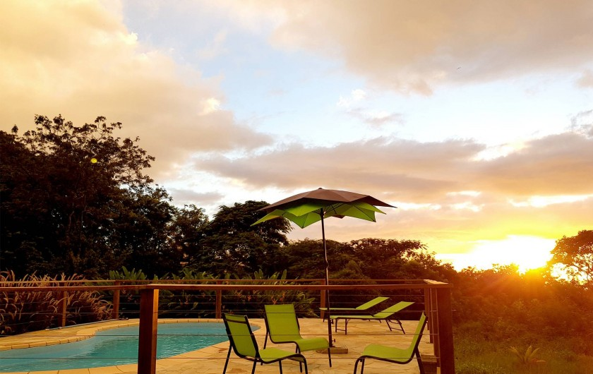 Location de vacances - Villa à Deshaies - Coucher de soleil