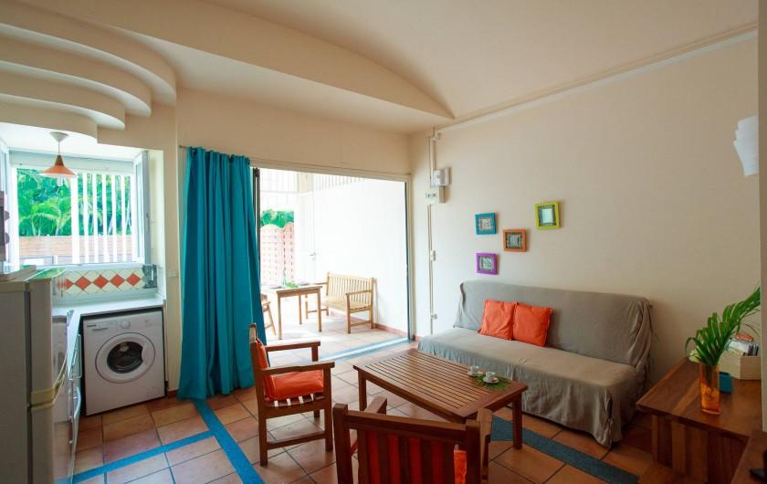 Location de vacances - Appartement à Le Diamant - pièce à vivre - appartement