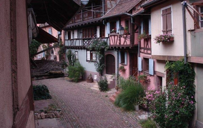 Location de vacances - Mas à Eguisheim - L'Alsacienne maison rose coté rue piétonne
