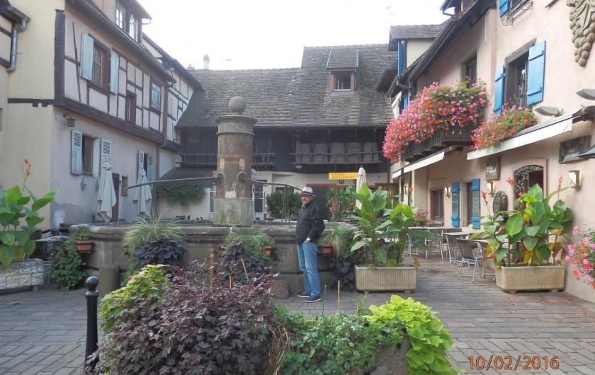 Location de vacances - Mas à Eguisheim - fontaine dans le village