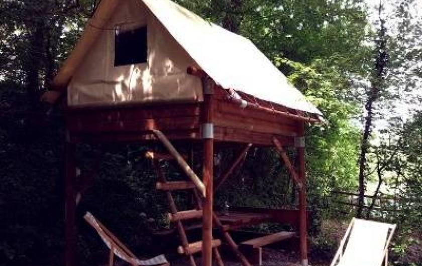 Location de vacances - Camping à Piégros-la-Clastre - Tente bivouac équipée pour 2 pers , à partir de 45 €/Nuit-Vue sur la Drôme
