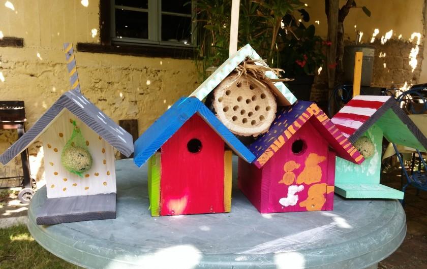 Location de vacances - Gîte à Ossages - Atelier gratuit  de réalisations mangeoires et nichoirs été 2019