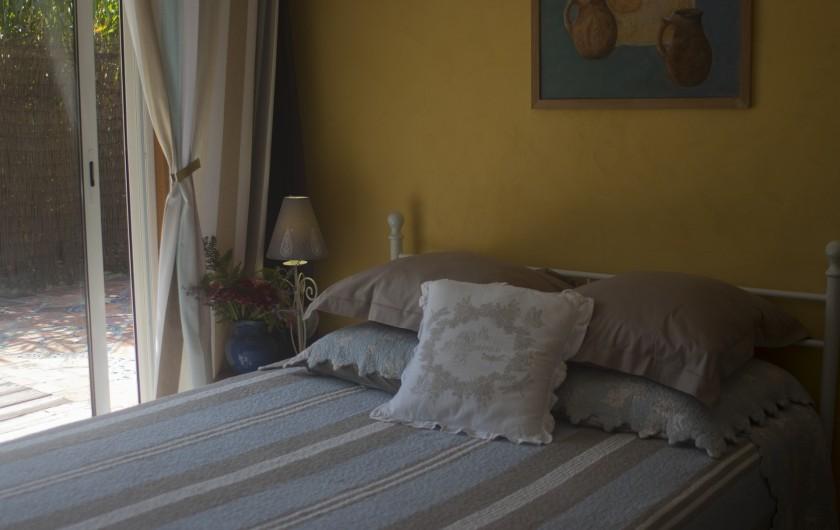 Location de vacances - Gîte à Ossages - Chambre bleue