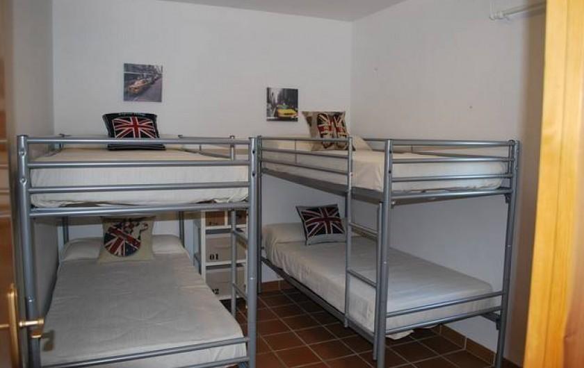 Location de vacances - Villa à L'Ametlla de Mar - Chambre avec deux lits superposés