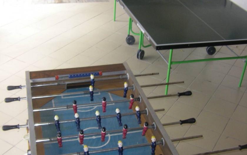 Location de vacances - Chalet à Saint-André-d'Embrun - Salle de jeux