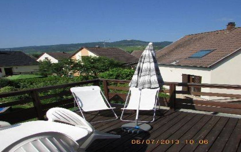 Location de vacances - Appartement à Wintzenheim - vue du balcon