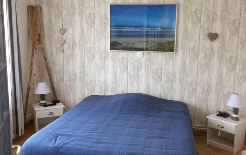 Location de vacances - Villa à Fort-Mahon-Plage - Chambre 1 rez de chaussée