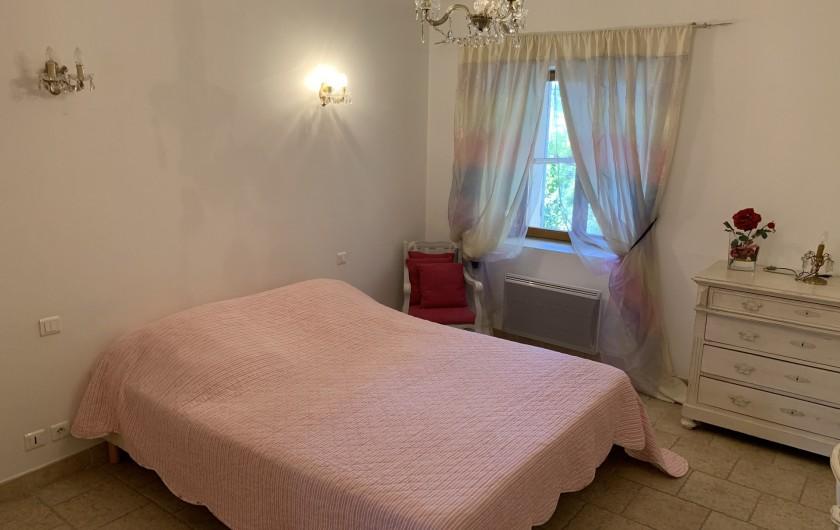 Location de vacances - Mas à Villelaure - Chambre 3 vue cour intérieure