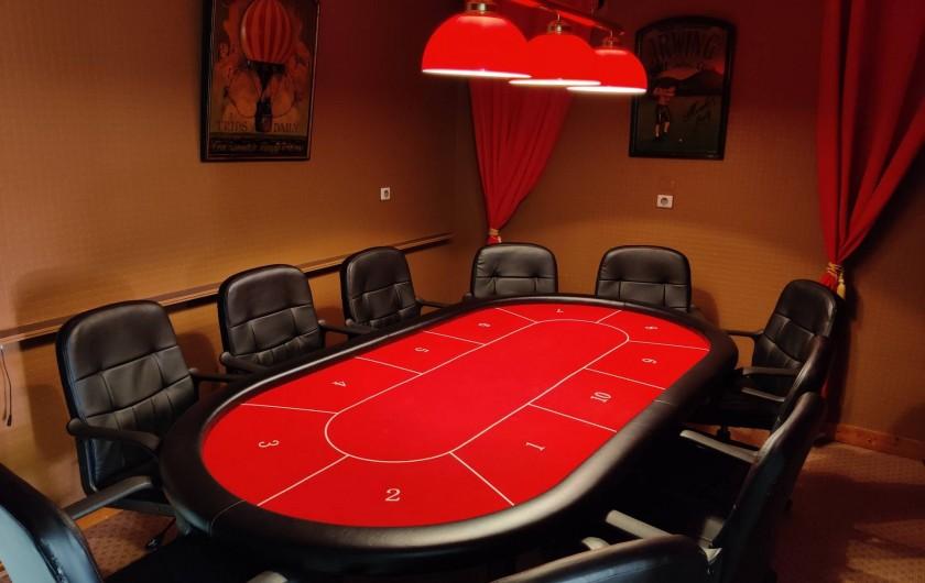 Location de vacances - Villa à Barneville-Carteret - Salle de poker