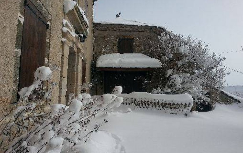 Location de vacances - Gîte à La Panouse - Sous la neige