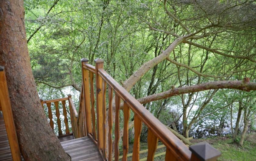 Location de vacances - Maison - Villa à Tessy-Bocage - Son accès est facilité par un escalier qui surplombe la rivière.