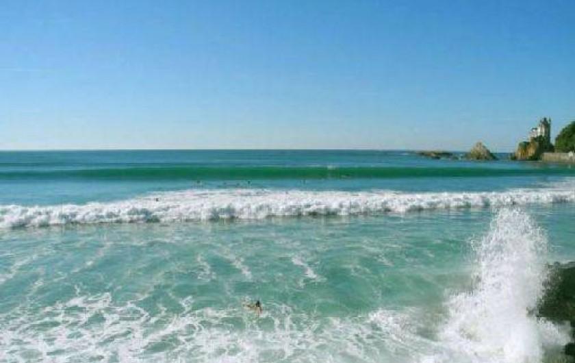 Location de vacances - Camping à Biarritz - Plage des Côte des Basques