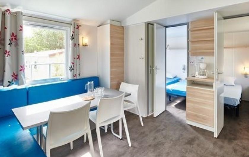 Location de vacances - Camping à Biarritz - Intérieur Mobil home - Biarritz Camping
