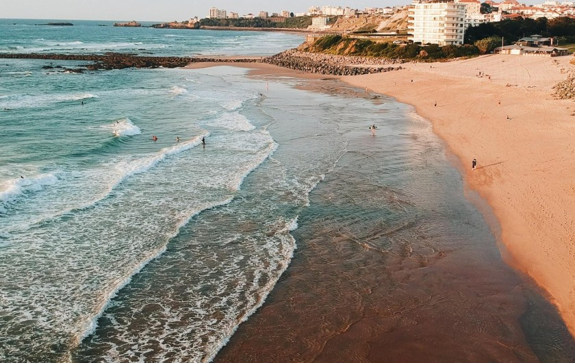 Location de vacances - Camping à Biarritz - Plage de Biarritz