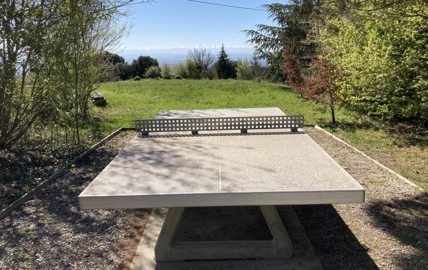 Location de vacances - Chambre d'hôtes à Saissac - table de ping pong