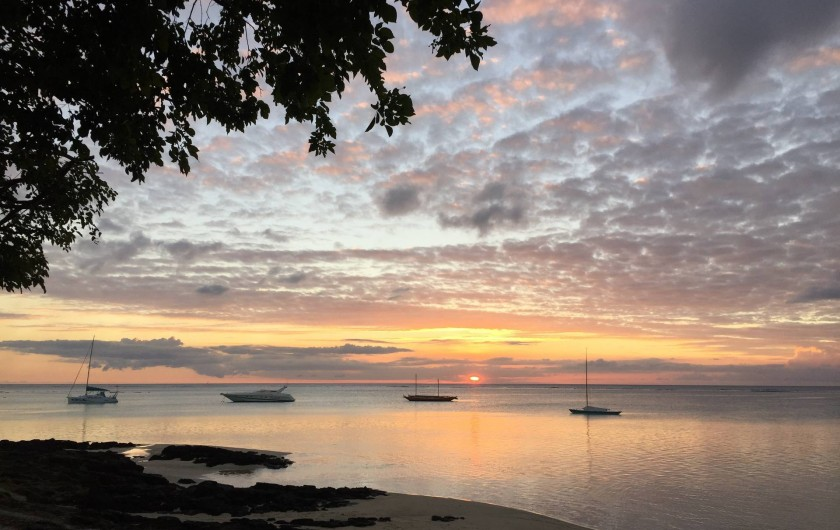 Location de vacances - Villa à Pereybere - Beau crépuscule et chaque jour différent