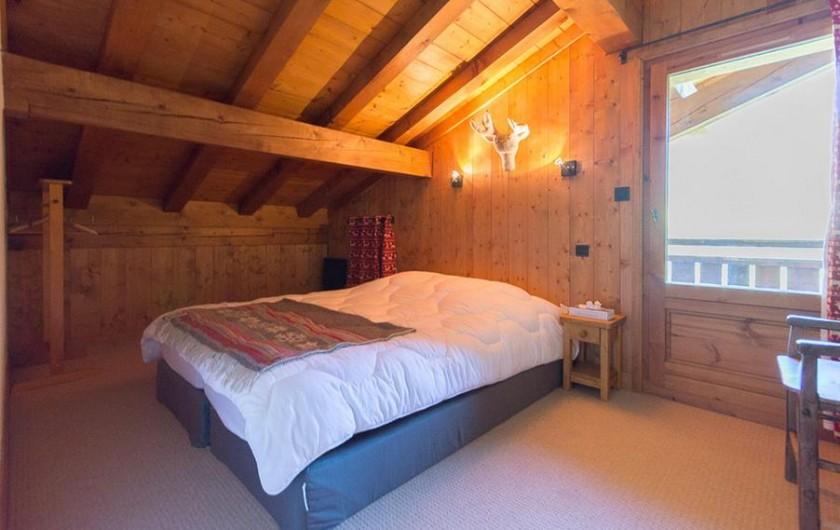 Location de vacances - Chalet à Megève - chambre Renne (étage sup) accès balcon