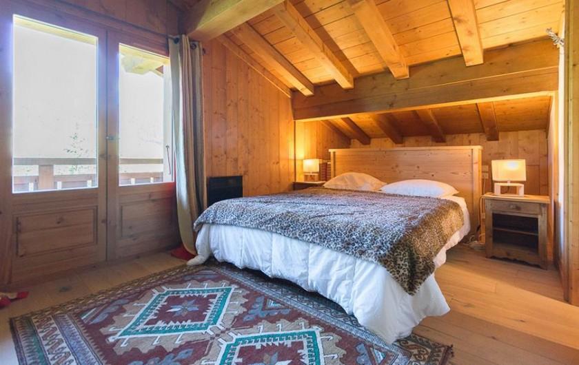 Location de vacances - Chalet à Megève - Suite Saint bernard (étage sup), accès balcon