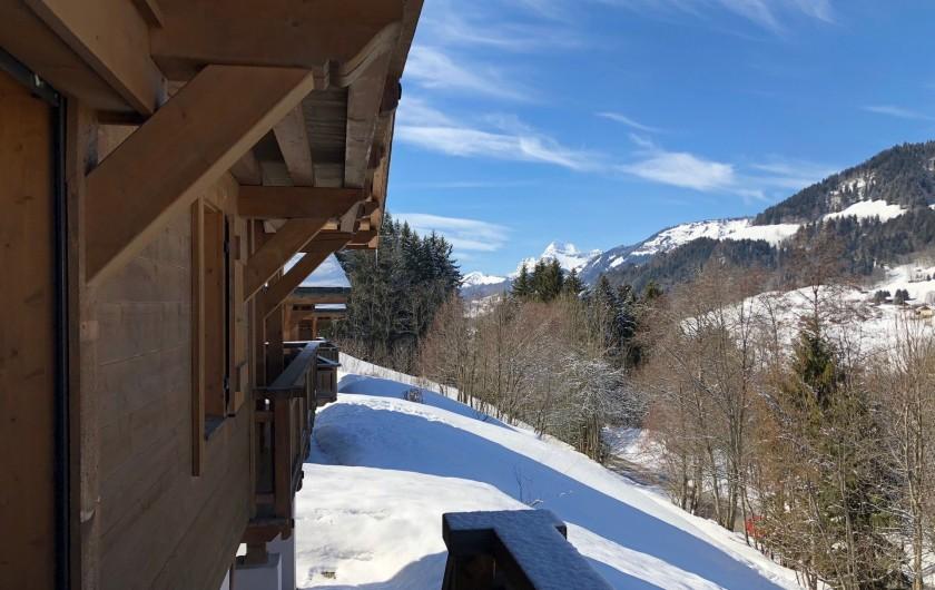 Location de vacances - Chalet à Megève - vue sur mont charvin et mont Jaillet