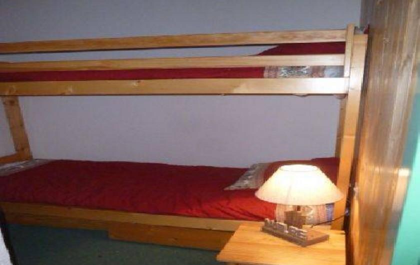 Location de vacances - Appartement à Station de Risoul 1850 - La chambre avec lit superposé