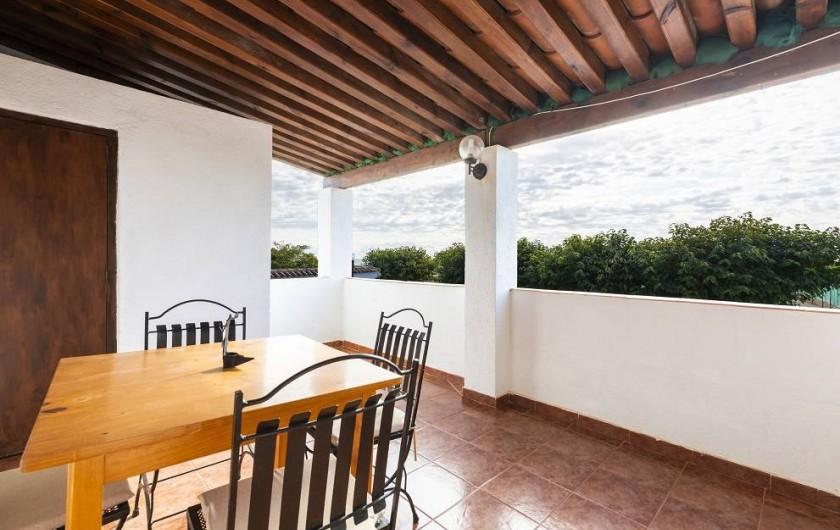 Location de vacances - Chalet à Les Cases d'Alcanar - Terrasse de la maison