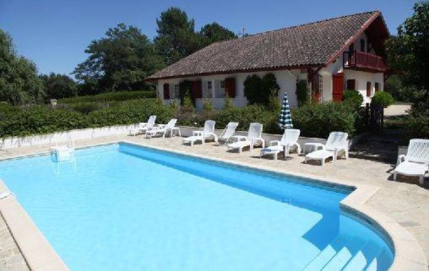 Location de vacances - Maison - Villa à Saint-Martin-de-Seignanx - La piscine avec accès protégé
